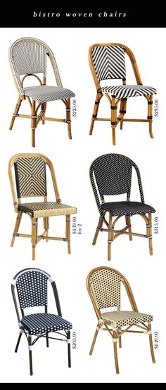 Bistro Chair Options