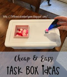Making task boxes is like therapy to me... there's nothing like spending a few bucks at Target or the Dollar tree and making new tasks! Here are the latest we've made in my classroom! Great for fine m