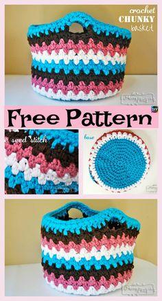 8 Most Adorable Crochet Basket Free Patterns #freecrochetpatterns #basket