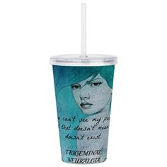 Invisible Pain Acrylic Double-Wall Tumbler