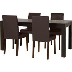 Buy Penley Walnut Stain Extendable Table and 4 Chocolate Chairs at Argos.co.uk - Your Online Shop for Dining sets.