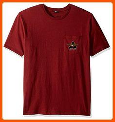 Brixton Men's Turret Short Sleeve Pocket Tee, Brick, Medium - Mens world (*Amazon Partner-Link)