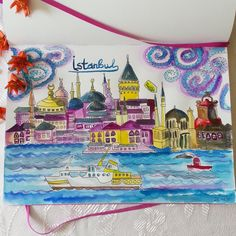 Istanbul inspration. Sketch for further works. Watercolor on paper. Leuchtturm1917 @juliasavushkina