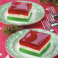 Christmas Ribbon jello salad—My mom made this every Christmas! Many funny stories attached to this salad! Christmas Ribbon jello salad—My mom made this every Christmas! Many funny stories attached to this salad! Christmas Desserts, Christmas Treats, Christmas Baking, Holiday Treats, Holiday Recipes, Christmas Eve, Funny Christmas, Christmas Salad Recipes, Christmas Ribbon Jello Recipe