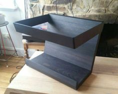 Record LP Stand by HaydenMelbourne on Etsy Record Storage Box, Record Shelf, Record Display, Lp Storage, Vinyl Storage, Bookcase Storage, Wood Storage, Shelves, Vinyl Room