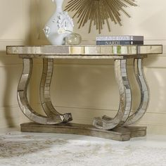 Hooker Furniture Melange Antique Mirror Console Table