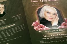 Vintage Funeral Program Template by SeraphimChris on Creative Market