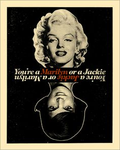 """You're a Marilyn or Jackie"" Poster. Tribute to MAD MEN Season 2 Episode 6: Maidenform"
