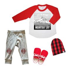 Mountain Life Shirt and Flannel Leggings //SandiLake Clothing//