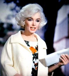 Marilyn Monroe on the set of Something's Got To Give, 1962.