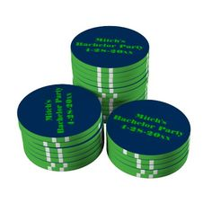 Personalized Bachelor Party Poker Chips
