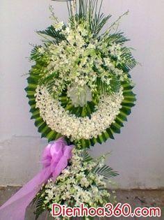 Vòng hoa viếng, hoa tươi tang lễ, hoa đám ma, vòng hoa