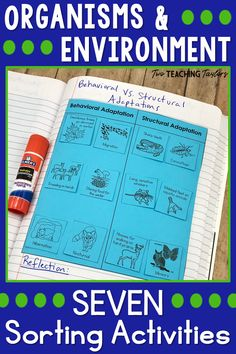 Do your students need extra practice when learning about organisms and environment concepts? Science Vocabulary, Science Topics, Science Resources, Teaching Science, Teaching Tips, Cooperative Learning Activities, Sorting Activities, Science Activities, Student Learning
