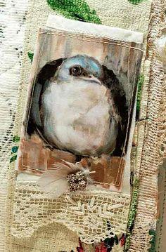 dj pettitt- print of her origianl painting on fabric