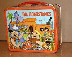 The Flintstones - Vintage Lunch Box Retro Lunch Boxes, Lunch Box Thermos, Cool Lunch Boxes, Metal Lunch Box, School Lunch Box, Vintage School, Vintage Tins, Vintage Stuff, Retro Toys
