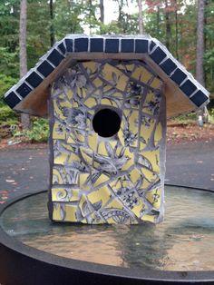 Mosaic Birdhouse by PiquedForYou on Etsy