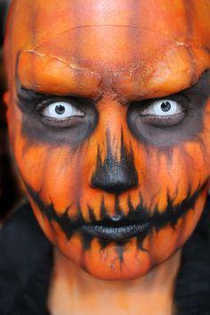 HALLOWEEN MAKEUP TUTORIAL, EVIL PUMPKIN MAKEUP | Halloween ...
