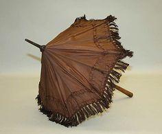 1835 American silk parasol