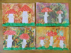Knutselopdracht: paddenstoelen in het bos