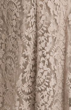. Fabric Photography, Scenery Photography, Interior Design Quotes, Off Shoulder Gown, Lace Curtains, Taupe, Beige, Tadashi Shoji, Antique Lace