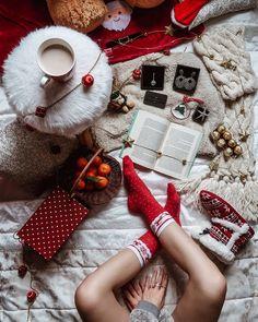 Christmas socks coffee time morning DOTS decorations home decor