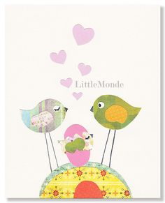 Baby Girl Nursery Prints Pastel Nursery Art NURSERY by LittleMonde