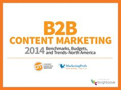 New today! Strategy is critical to success > B2B Content Marketing: 2014 Benchmarks, Budgets, and Trends.