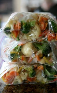 A great recipe and step by step directions for making homemade freezer stir-fry. A healthy freezer meal that can be made up in minutes on those busy nights!