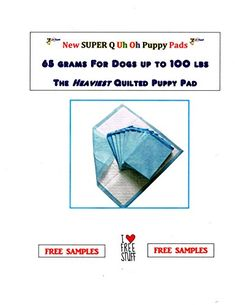 Puppy Training Pads Super Quilted Oops Pad Super Quilted WEE WEE Pads 65 Grams ** Find out more about the great product at the image link. (This is an affiliate link and I receive a commission for the sales)