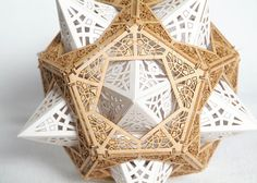 Model Kit for Geometric Orb Dodecahedron Design Sacred Geometry