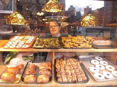 Hungarian goodies!    03-14-11 Andre's Hungarian Cafe, 2nd Ave, Manhattan, New York City    Oh sure, the day before we leave and we 'discover' a wonderful place to eat! In addition to the pastries seen here in the window, they have small dining area in the back serving wonderful Hungarian specialties.    My postings will be episodic for the next 7 weeks, as we leave tomorrow for Italy and some smaller villages, then on to Turkey. I will post what I take when I have internet access and when I…
