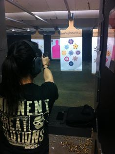 Fun at the range with A Girl and A Gun Women's Shooting League! [The target is available at www.misspistol.com]