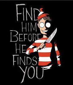 Freaky Halloween Where's Wally #zombiemasters