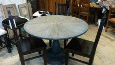 "48"" industrial reclaimed dining table #industrialdining"