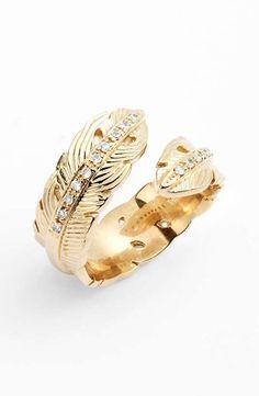 Melinda Maria | Feather Ring #milindamaria #feather #ring