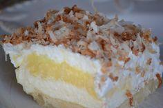 ~Stella B's Kitchen: Princess Pie- a coconut cream pie verson of chocolate layer dessert (chocolate mousse cups coconut cream) Layered Desserts, Just Desserts, Delicious Desserts, Yummy Food, Awesome Desserts, Sweet Desserts, Pie Recipes, Sweet Recipes, Dessert Recipes