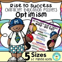 Character Education Resources!  Teach Optimism to your students using this colorful poster, stamp card, and activity sheet.  Great for grades 2-7!
