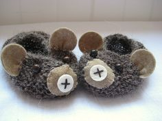 Little Bear Cub Baby Slippers - So Cute!