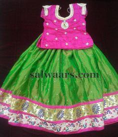 Green Lehenga Pythani Border - Indian Dresses