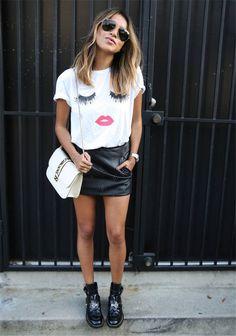 Summer Women's Casual T-Shirt tshirt Eyelashes Lip print Loose Tees woman Shirts