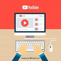 Youtube player in device with flat design Free Vector Page Borders Design, Border Design, Youtube Design, List Of Skills, Brand Building, Letter Logo, You Youtube, Logo Nasa, Art Logo