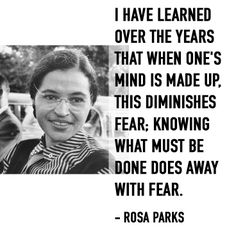 Rosa Parks - civil rights activist #internationalwomensday #rosaparks #inspiration #quotes