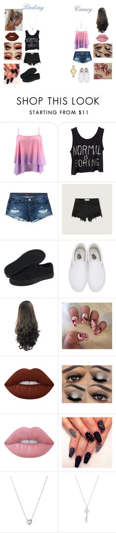 """""""Lindsay & Camry"""" by jordanjones8888 on Polyvore featuring 3x1, Abercrombie & Fitch, Vans, Lime Crime, Links of London and Michael Kors"""