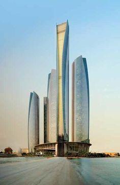 Visit the United Arab Emirates. Amazing Buildings, City Buildings, Beautiful Architecture, Beautiful Landscapes, Ferrari World Abu Dhabi, Dubai Things To Do, Dubai Travel, High Rise Building, Asia
