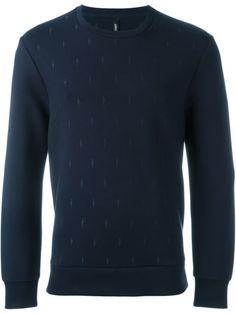 NEIL BARRETT Embroidered Lightning Bolt Sweatshirt. #neilbarrett #cloth #sweatshirt