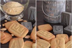 Mandlové písmenkové sušenky Dairy, Cheese, Food, Eten, Meals, Diet