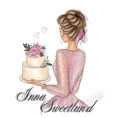 Cupcake Cake Designs, Cupcake Vector, Cute Food Art, Cute Art, Sarra Art, Cupcake Illustration, Baking Logo, Bakery Business Cards, Cake Logo Design