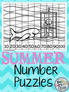 No Prep Number puzzles perfect for end of the year worksheets or send them home in a summer packet. Let's keep skip counting all summer long.