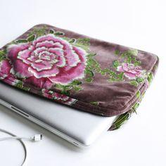Velvet Laptop Sleeve | Cox & Cox