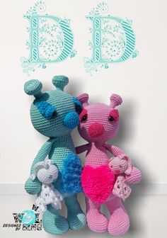 Vote for Dreamy Deavy  by Designed by WOLsing  - http://www.amigurumipatterns.net/designcontest/vote/?id=1073 - They are in love and love love love to cuddle ❤